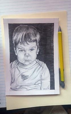 Niké: gyermekportré